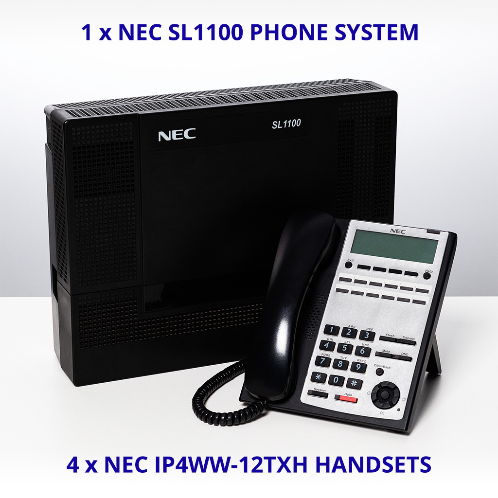 nec sl1100 ip4ww 12txh telephone system bundle